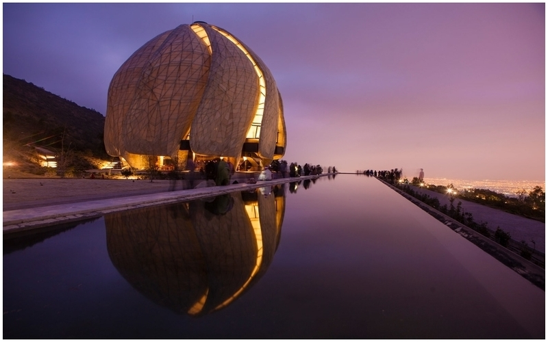 architecture moderne de la bahai temple de l'amerique