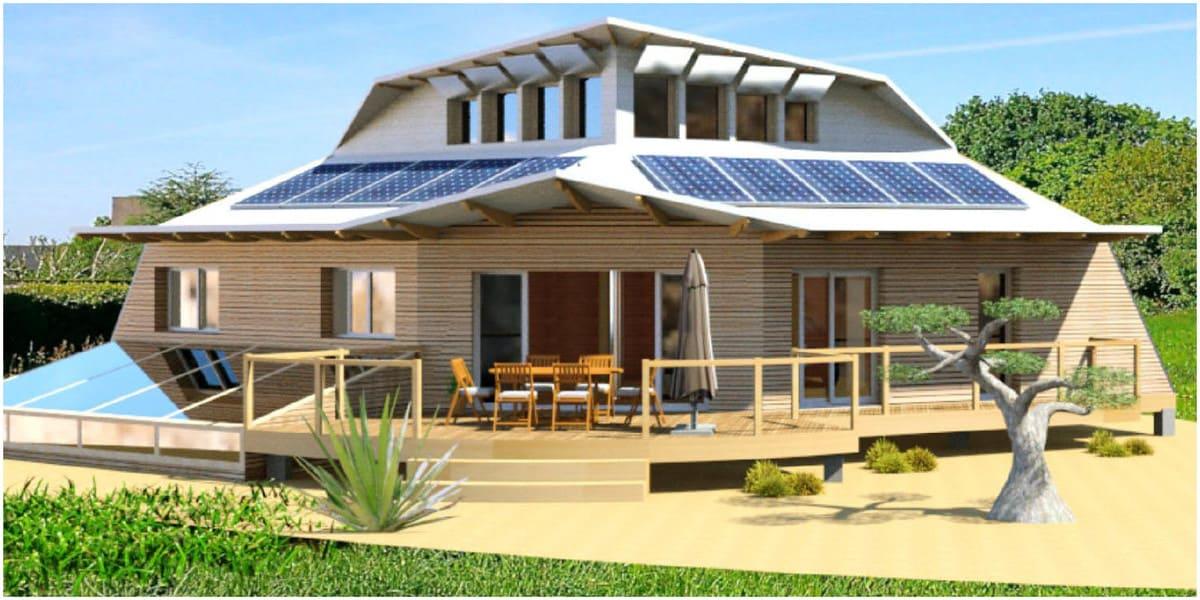 concept de l'architecture ecologique dune maison autonome